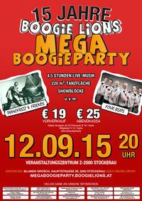 15 Jahre Boogie Lions - Mega Boogie Party@Veranstaltungszentrum Z-2000
