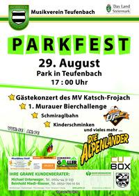 Parkfest 2015 Musikverein Teufenbach@Park Teufenbach