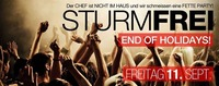 Sturmfrei Party & End of Holidays