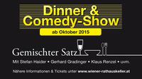 Dinner & Comedy-Show@Wiener Rathauskeller