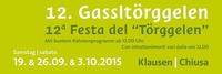 """12. Gassltörggelen Klausen – 12a Festa del """"Törggelen"""" Chiusa @Klausen Barbian Feldthurns Villanders / Chiusa Barbiano Velturno Villandro"""