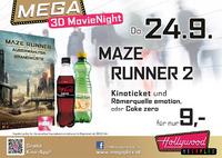 MEGA MovieNight 3D: Maze Runner 2@Hollywood Megaplex