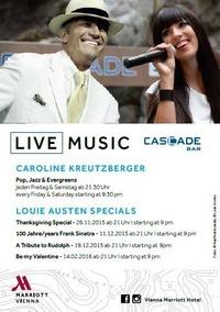 A Tribute to Rudolph mit Louie Austen@Cascade Bar im Vienna Marriott Hotel
