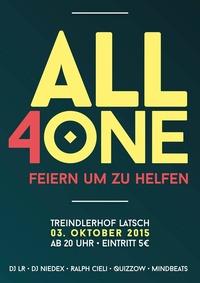ALL 4 ONE - Feiern um zu helfen@Treindlerhof Latsch