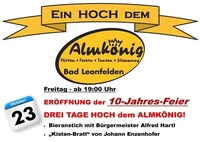 Ein HOCH dem ALMKÖNIG - 10-Jahres Feier!@Almkönig