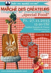 Marché des créateurs : Designmarkt mit französischem Flair special Food