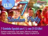 7 Sünden Party mit Djane Ginny@Maurer´s