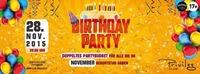 BIRTHDAY PARTY  [28.11.]  @ CLUB PRIVILEG