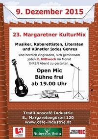 Der 23. Margaretner KulturMix im Industrie@Traditionscafe Industrie