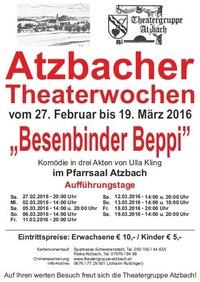"Atzbacher Theaterwochen 2016 ""Besenbinder Beppi""@Pfarrsaal Atzbach"