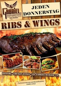 - - - RIBS & WINGS - - -@Gabriel Entertainment Center