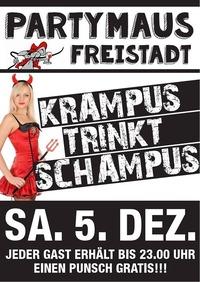 KRAMPUS TRINKT SCHAMPUS@Partymaus Freistadt