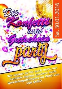 KONFETTI & GUTSCHEIN PARTY