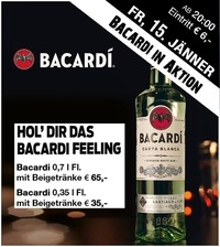 Bacardi in Aktion