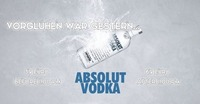 Absolut Vodka Aktion @Klausur@Klausur Bar