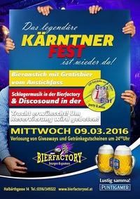 Das Legendäre Kärntner Fest !@Bierfactory XXL