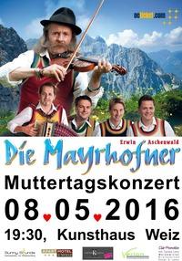 Erwin Aschenwald - Die Mayrhofner: Muttertagskonzert@Kunsthaus Weiz