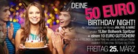 WOW – Deine 50€ Birthday Night