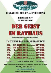 Premiere - Der Geist im Rathaus@Volksschule Kainach