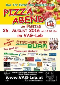 Pizza Abend@VAG Partylocation