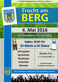 Trocht am Berg 2016@Sportplatz Maria Taferl