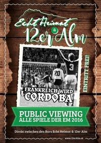 Em 2016 Public Viewing@12er Alm Bar
