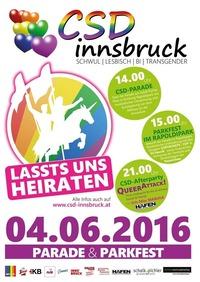 CSD Innsbruck 2016 - Parkfest@Rapoldipark - Stadtpark Rapoldi