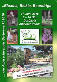 """Das weltgrößte Insektenhotel beim Alberschwender Gartenmarkt """"Bluama, Blekta, Bsundrigs"""" 2016@Dorfzentrum Alberschwende"""