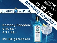 Bombay Sapphire in Aktion