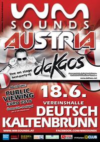 WM-Sounds Austria mit DJ daKaos in Deutsch Kaltenbrunn@Vereinshalle