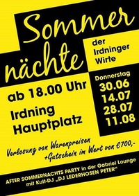 Sommernachtsfest der Irdninger Wirte!@Gabriel Entertainment Center
