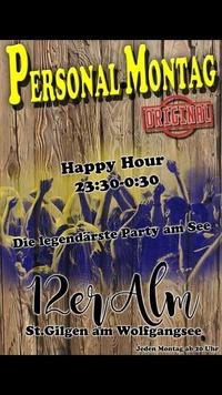 Personal Montag@12er Alm Bar