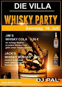 Jim & Jack are in the house - Whisky Party@Die Villa - musicclub