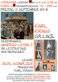 Karl Kraus Collage@Xi CAFE & BAR