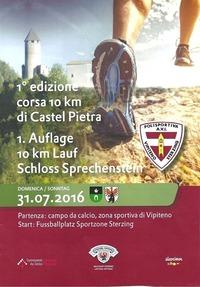 1 Auflage 10 Km Lauf Schloss Sprechenstein@Fussballplatz Sterzing