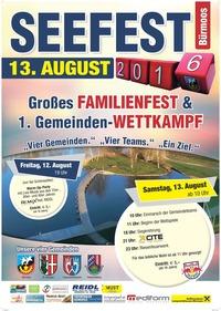 Seefest Bürmoos 2016 mit grossem Gemeindewettkampf