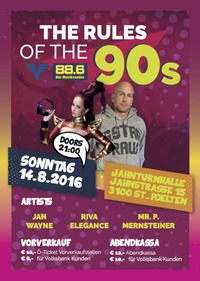The Rules Of The 90's  - powered by 88.6 @Jahnturnhalle