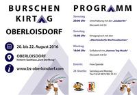 Burschenkirtag Oberloisdorf (20. - 22. August 2016)@Festgelände Oberloisdorf