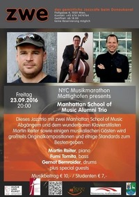 NYC Musikmarathon Mattighofen presents Manhattan School of Music Alumni Trio@ZWE