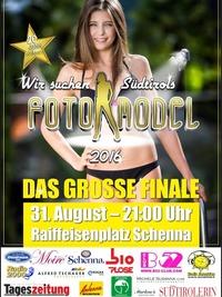 Finale Südtirols Fotomodel 2016@Raiffeisenplatz Schenna