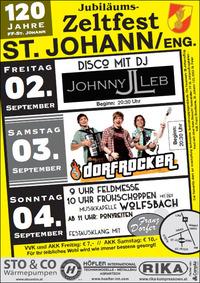 DORFROCKER beim Zeltfest der FF St.Johann/Eng.@Feuerwehrhaus