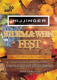 Sturm & Weinfest #Johnnysclub by LEO Hillinger@Johnnys - The Castle of Emotions