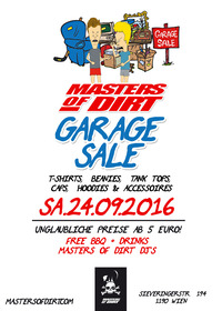 Masters of Dirt Garage Sale@M.O.D Headquater