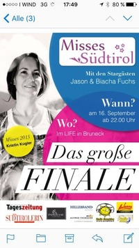 Misses Südtirol 2016@LIFE Club