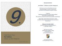 9er-Edition Literatur aus dem Alsergrund Buchpräsentation@Magistratisches Bezirksamt für den 9. Bezirk