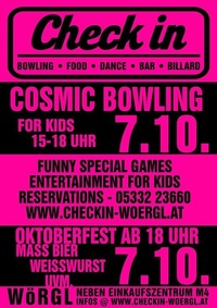Kids Cosmic Bowling@Check in