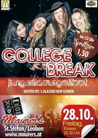 College Break #16 - Maturaparty 5.Klassen HLW Leoben@Maurer´s