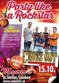Party like a Rockstar: Cross Out - Die Rock- und Partyband LIVE@Maurer´s