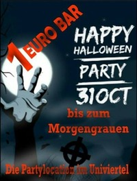 Die geilste und billigste Halloweenparty in Graz@1-Euro-Bar