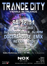 ★ TRANCE CITY – Vienna in Trance | 7 DJs (Sa., 12.11.2016) ★